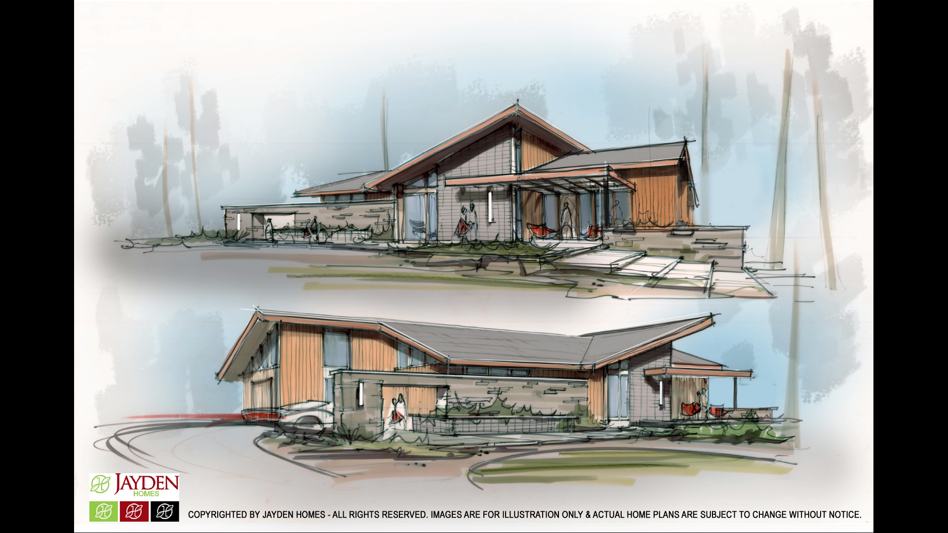 New grandview mid century concept design jayden homes for New concept homes