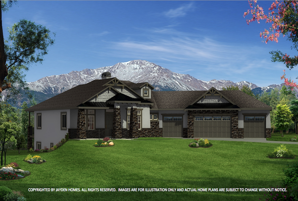 THE EAGLEVIEW MOUNTAIN ELEVATION BY JAYDEN HOMES